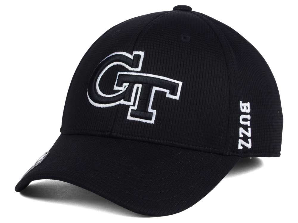 hot sale online 06468 7f41f order georgia tech top of the world ncaa black white booster cap dc089 384ac