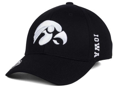 Iowa Hawkeyes Top of the World NCAA Black White Booster Cap