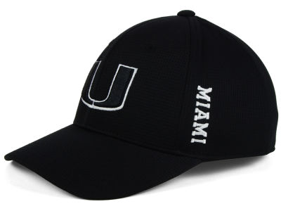 Miami Hurricanes Top of the World NCAA Black White Booster Cap