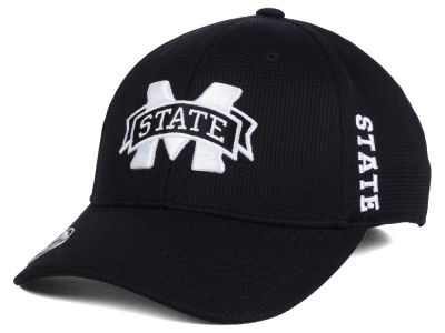Mississippi State Bulldogs Top of the World NCAA Black White Booster Cap