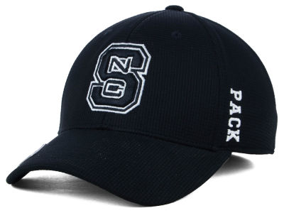 North Carolina State Wolfpack Top of the World NCAA Black White Booster Cap