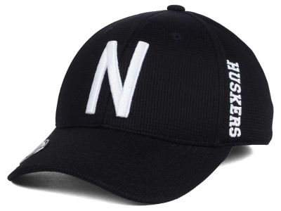 Nebraska Cornhuskers Top of the World NCAA Black White Booster Cap