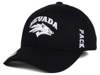 Nevada Wolf Pack Top of the World NCAA Black White Booster Cap