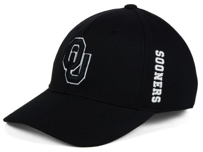 Oklahoma Sooners Top of the World NCAA Black White Booster Cap