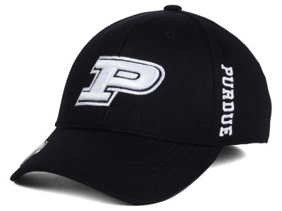 Purdue Boilermakers Top of the World NCAA Black White Booster Cap