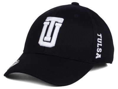 Tulsa Golden Hurricane Top of the World NCAA Black White Booster Cap