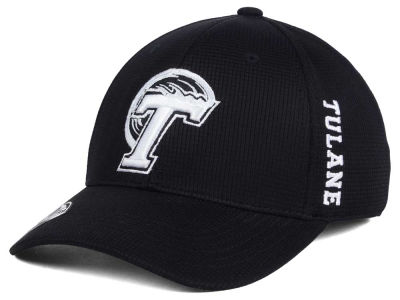 Tulane Green Wave Top of the World NCAA Black White Booster Cap