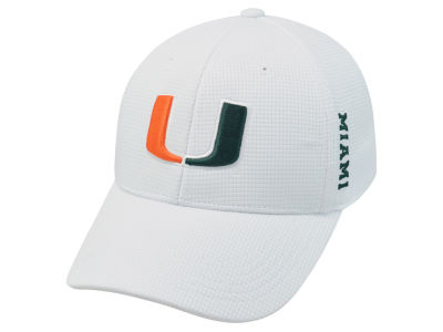 Miami Hurricanes Top of the World NCAA White Booster Cap