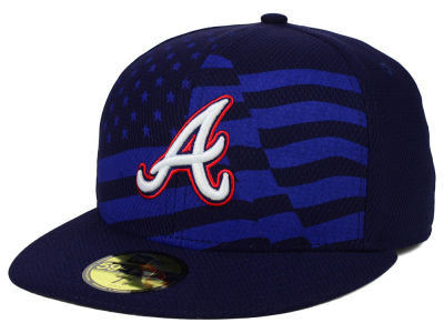 Atlanta Braves New Era MLB 2015 July 4th Stars & Stripes 59FIFTY Cap