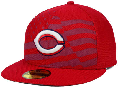 Cincinnati Reds New Era MLB 2015 July 4th Stars & Stripes 59FIFTY Cap