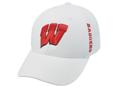 Wisconsin Badgers Top of the World NCAA White Booster Cap
