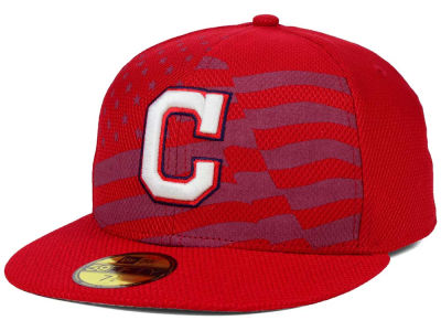 Cleveland Indians New Era MLB 2015 July 4th Stars & Stripes 59FIFTY Cap