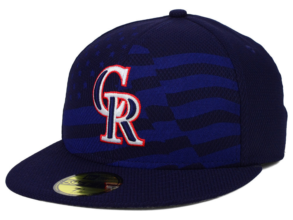 Colorado Rockies New Era MLB 2015 July 4th Stars   Stripes 59FIFTY Cap  8c37c847011