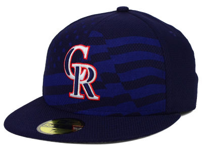 Colorado Rockies New Era MLB 2015 July 4th Stars & Stripes 59FIFTY Cap