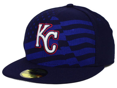 Kansas City Royals New Era MLB 2015 July 4th Stars & Stripes 59FIFTY Cap