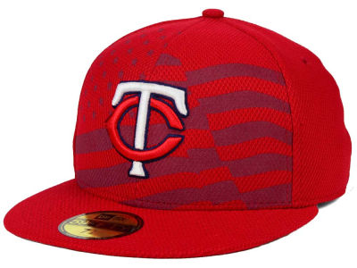 Minnesota Twins New Era MLB 2015 July 4th Stars & Stripes 59FIFTY Cap