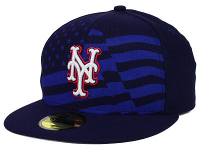New York Mets New Era MLB 2015 July 4th Stars & Stripes 59FIFTY Cap