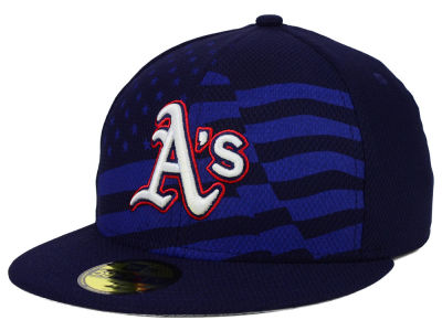 Oakland Athletics New Era MLB 2015 July 4th Stars & Stripes 59FIFTY Cap