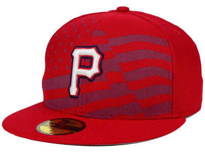 Pittsburgh Pirates New Era MLB 2015 July 4th Stars & Stripes 59FIFTY Cap