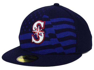 Seattle Mariners New Era MLB 2015 July 4th Stars & Stripes 59FIFTY Cap