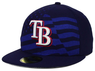 Tampa Bay Rays New Era MLB 2015 July 4th Stars & Stripes 59FIFTY Cap