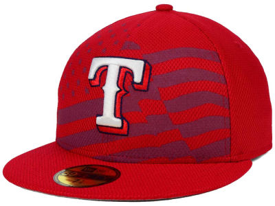 Texas Rangers New Era MLB 2015 July 4th Stars & Stripes 59FIFTY Cap