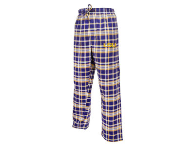 LSU Tigers NCAA Men's Bleacher Plaid Flannel Pants