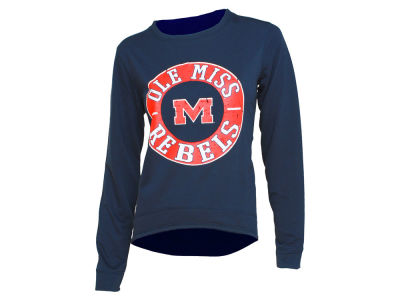 Ole Miss Rebels NCAA Women's Home Field Long Sleeve Crew Fleece Sweatshirt