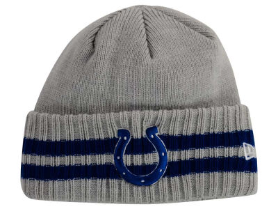 Indianapolis Colts New Era NFL 2 Striped Cuff Knit