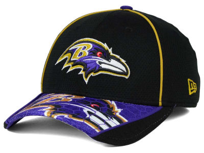 Baltimore Ravens New Era NFL Hex Charge 39THIRTY Cap