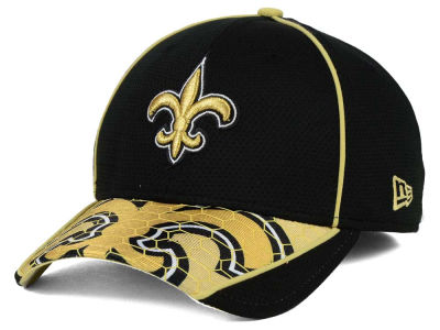 New Orleans Saints New Era NFL Hex Charge 39THIRTY Cap