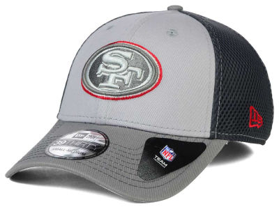 San Francisco 49ers New Era NFL Greyed Out Neo Flex 39THIRTY Cap