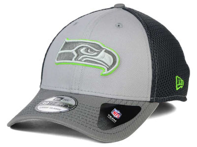 Seattle Seahawks New Era NFL Greyed Out Neo Flex 39THIRTY Cap
