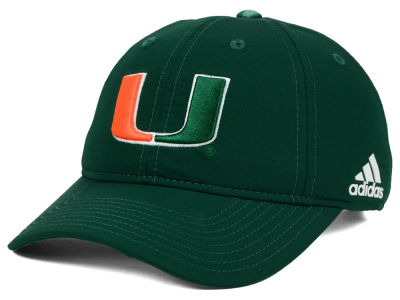 Miami Hurricanes adidas NCAA Travel Adjustable Slouch Cap