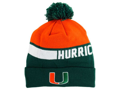 Miami Hurricanes adidas NCAA 2015 Player Cuffed Pom Knit