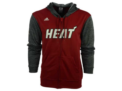 Miami Heat adidas NBA Men's Pre Game Full Zip Hooded Jacket