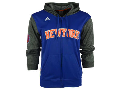 New York Knicks adidas NBA Men's Pre Game Full Zip Hooded Jacket