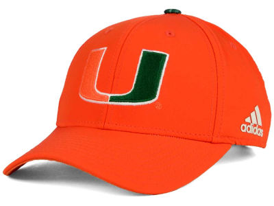Miami Hurricanes adidas NCAA Structured Adjustable Cap