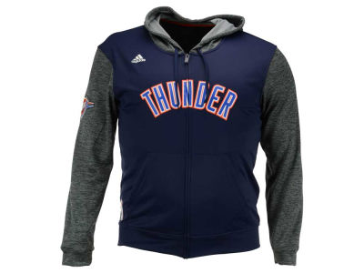 Oklahoma City Thunder adidas NBA Men's Pre Game Full Zip Hooded Jacket