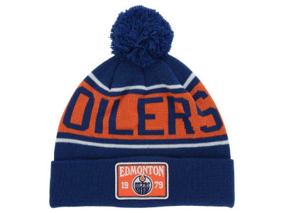 Edmonton Oilers Old Time Hockey NHL Juneau Pom Knit