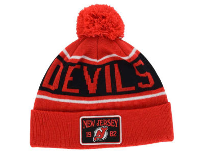 New Jersey Devils Old Time Hockey NHL Juneau Pom Knit