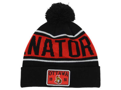 Ottawa Senators Old Time Hockey NHL Juneau Pom Knit