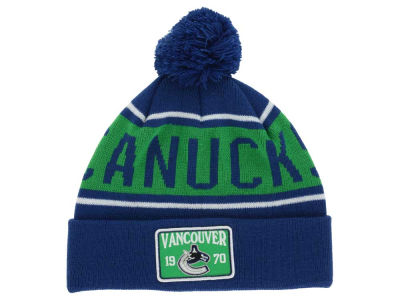 Vancouver Canucks Old Time Hockey NHL Juneau Pom Knit