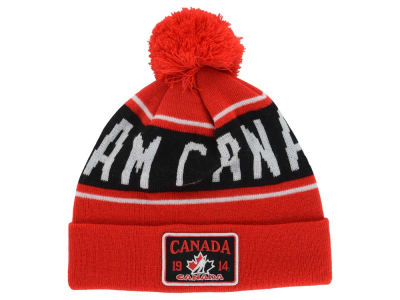 Canada Hockey Old Time Hockey NHL Juneau Pom Knit