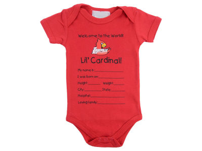 Louisville Cardinals Atlanta Hosiery NCAA Newborn Welcome to the World Creeper