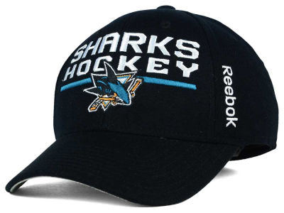 San Jose Sharks Reebok NHL 2015 Authentic Locker Room Flex Cap