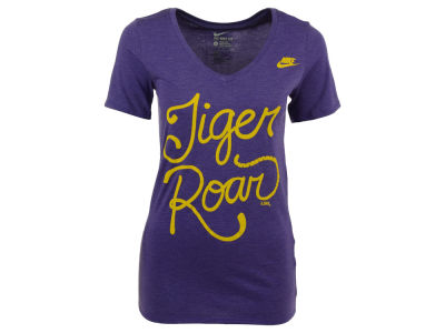 LSU Tigers Nike NCAA Women's Tri Mid V-Neck Local Attitude T-Shirt