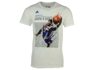 New York Knicks Carmelo Anthony adidas NBA Men's Elevate Player T-Shirt