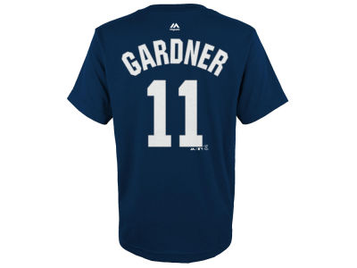 New York Yankees Brett Gardner Majestic MLB Youth Official Player T-Shirt