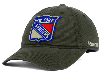 New York Rangers Reebok NHL 2015 Textured Slouch Cap